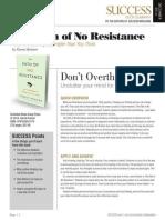 Path Of No Resistence Summary - Success Magazine Book Summaries