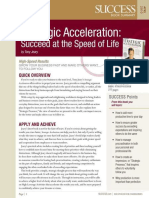Strategic Acceleration Summary - Success Magazine Book Summaries