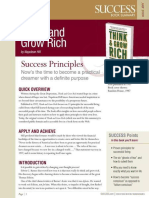 Think and Grow Rich Summary - Success Magazine Book Summaries