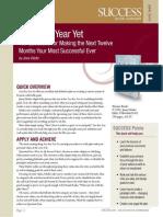 Your Best Year Yet Book Summary 061 - Success Magazine Book Summaries