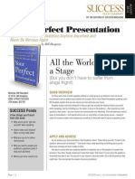 Your Perfect Presentation Summary - Success Magazine Book Summaries