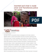 'What is Represented and What is Made Invisible' Women and Transitional Justice Processes in Sri Lanka