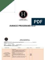 Avance Programático (Completo Bloque 4)