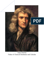 Picture of Isaac Newton in Word