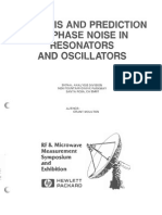 Analysis and Prediction of Phase Noise