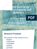Writing Qualitative Research Purpose and Questions