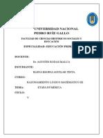 Etapa Numérica en Los Grados Intermedios.