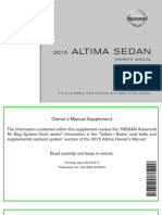 2015 Altima Owner Manual