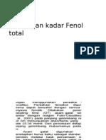 Penetapan Kadar Fenol Total