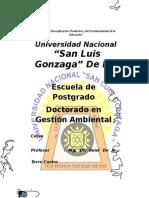 Trabajo de Gestion Ambiental Dr Rene de La Torre