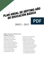 10.9 Planificacion Anual 7 Egb