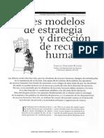 Modelos de Estrategia en RRHH