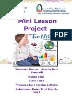 mini lesson project