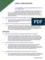 Third Department FAQ's