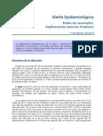 Alerta Epidemiologica Sarampion 2015