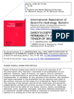 Darcy's Coefficiente of Permeability