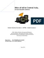 Katerina Ivascenkova - New Geopolitics of Oil in Central Asia Russian-Kazakh Relations