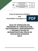 8 Guia de Operación Del Programa de Construcción, Equipamiento, Mantenimiento y Rehabilitación de Infraestructura Física de Educación Superior