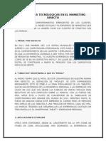 Tendencias Tecnologicas en El Marketing Directo