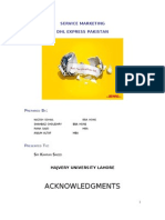 Services marketing Project on DHL Pakistan