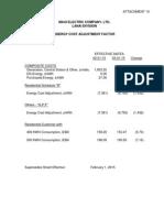March 2015 Energy Cost Adjustment - Maui Electric Co Ltd (Lanai)