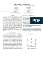 DESIGN OF A MICROWAVE CHANNELIZED ACTIVE FILTER FOR MMIC