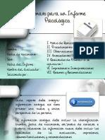 Sintesis de Formato de Informe Diagnostico