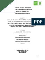 Informe No. 1 caracterización de materiales