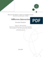 Offscreen Interaction