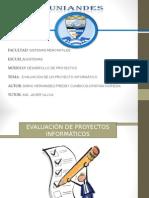 Evaluación de Un Proyecto Informático