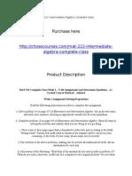 MAT 222 Intermediate Algebra Complete Class