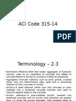 ACI Code 315-14