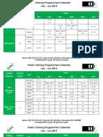 Training Development Calendar Jan Jun 2015 270115