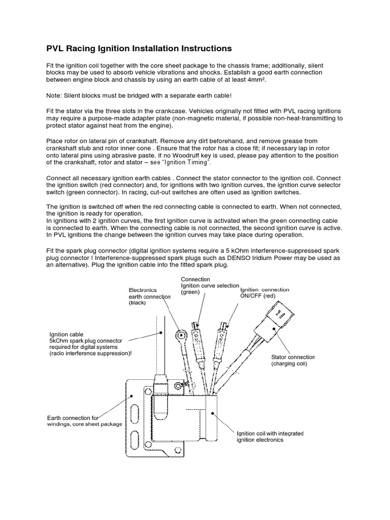 Pvl Racing Ignition 1 System Electrical Connector Electronics Wiring Diagram