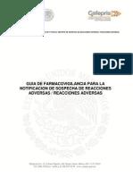 Guia de Farmacovigilancia Para La Notificacion de Sospecha de Reacciones Adversas Reacciones Adversas