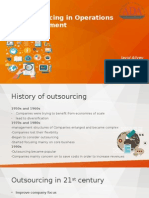Outsourcing in Operations Management