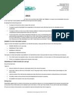 Kinderballet Enrolment Agreement 2013