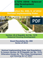 Section 18.RA 7279 or THE URBAN DEVELOPMENT AND HOUSING ACT OF 1992