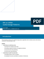 BW on HANA - Useful Design Patterns