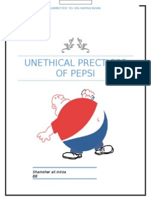 Unethical Prectices of Pepsi | Pepsi Co | Brand