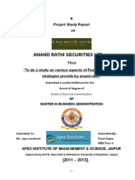 Training Report on Anand Rathi