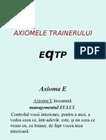 AXIOMELE TRAINERULUI