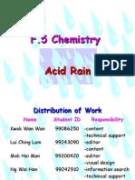 F.5 Chemistry Acid Rain