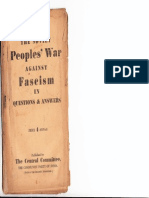 The Soviet Peoples' War Against Fascism in Questions and Answers
