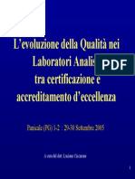 Controllo Qualità Nei Laboratori Analisi