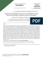 Optimization of Multiple Characteristics of EDM Parameters