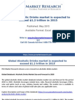 Global Alcoholic Drinks market is expected to exceed $1.2 trillion in 2015