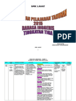Form 3 English Scheme of Work With Pppm 2015