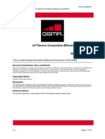 GSMA - IoT Device Connection Efficiency Guidelines v1.1