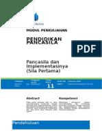 Pancasila Dan Implementasinya (Sila Pertama) (1)